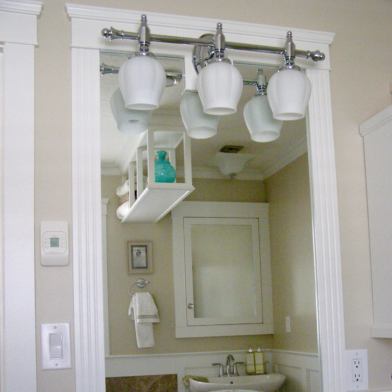 Bathrooms bassetts finishing carpentry and painting for Custom made bathroom mirrors